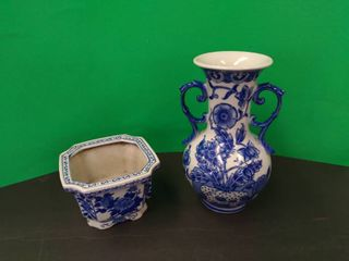 Blue   White Pottery Vase   Pot