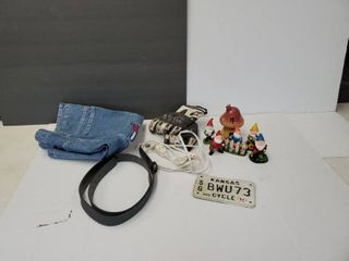 Treasure Hunt lot  Vintage license Plate  Figurines And Much More