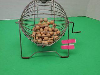 Vintage Bingo Number Selector Basket
