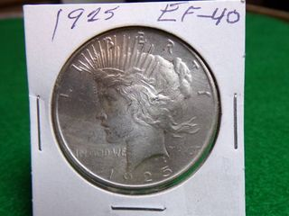 1925 Peace Silver Dollar EF40