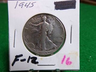 1945 WAlKING lIBERTY HAlF   F12