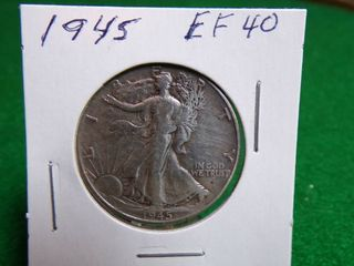 1945 WAlKING lIBERTY HAlF   EF40