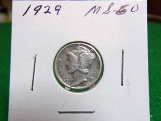 1929 MERCURY DIME   MS50