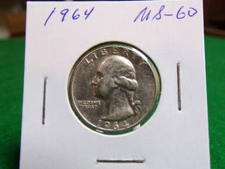 1964 MS60 WASHINGTON QUARTERS