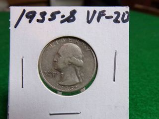 1935 S WASHINGTON QUARTER VF20