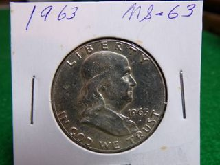 1963 FRANKlIN HAlF MS63