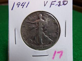 1941 WAlKING lIBERTY HAlF VF20
