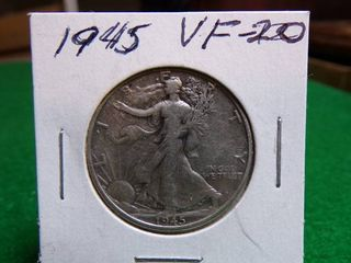 1945 WAlKING lIBERTY HAlF VF20