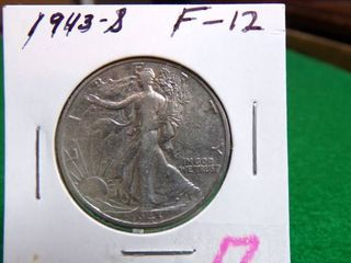 1943 S WAlKING lIBERTY HAlF F12