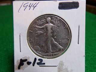1944 WAlKING lIBERTY HAlF F12