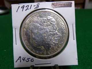 1921 S MORGAN DOllAR AU50