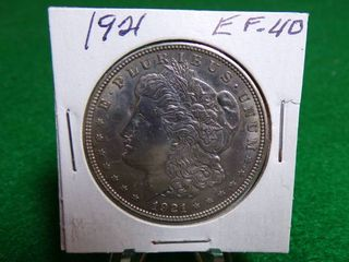 1921 MORGAN DOllAR EF40