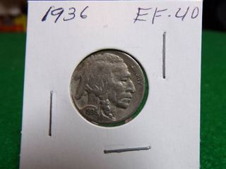 1936 BUFFAlO NICKEl   EF40