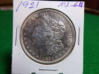 1921 MORGAN DOllAR MS64