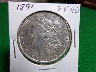 1891 MORGAN DOllAR   EF40
