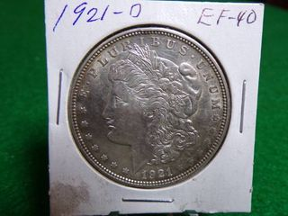 1921 D MORGAN DOllAR   EF40