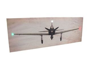 Vintage look Airplane lED lighted Canvas Print Wall Hanging