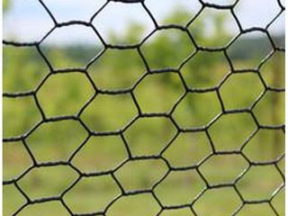 2  X 150  Steel Hex Web Black Pvc Coated Dog Fence