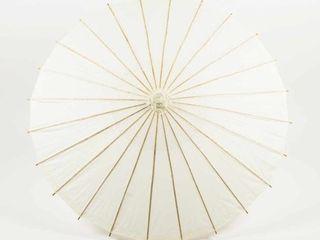 Quasimoon 32  Beige   Ivory Paper Parasol Umbrella by PaperlanternStore