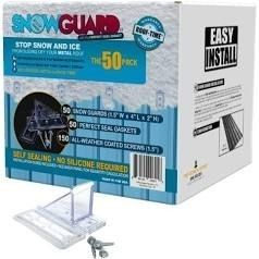 SnowGuard 50 Pack  Stop Snow and Ice from Sliding Off Your Metal Roof