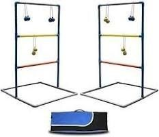 Maggift ladder Toss Game Set ladderball Game Set for Indoor or Outdoor with 6 Bolas  Carrying Case