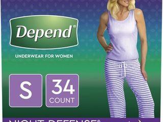 Depend Women s Night Defense Incontinence Underwear   S   34ct