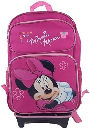 Minnie Mouse Rolling Backpack w lunchbox