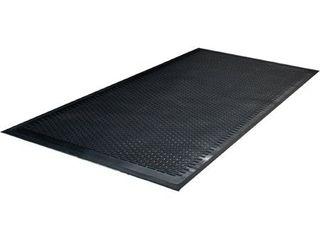 Guardian 14030500 36 in  x 60 in  Clean Step Outdoor Rubber Scraper Mat  Black
