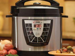 Power Pressure Cooker Xl 6 quart Silver