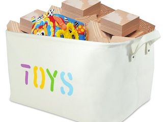 Canvas  TOYS  Storage Bin 20 long  large enough for Toy Storage   Storage Basket for organizing Baby Toys  Kids Toys  Baby Clothing  Children Books  Gift Baskets