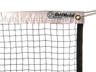Gold Metal Badminton Net