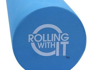 36 inch length x 6 inch round   the foam roller   best firm high density eco friendly eva foam rollers for physical therapy  great back roller for muscle therapy  mobility   flexibility