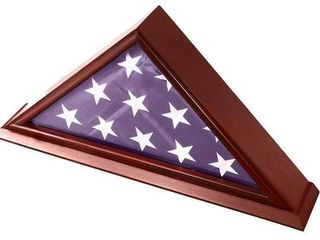 Decomil 5x9 Burial Funeral Solid Wood Flag Frame