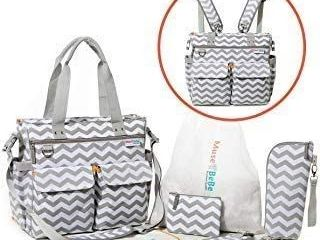 Diaper Bag Backpack 5 in 1 Baby Bags For Mom Set Converts To Diaper Bag Tote  4