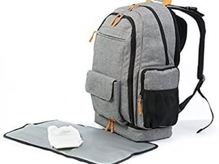 DGM Backpack  Grey   Orange