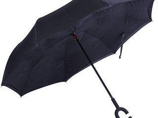 Marino Inverted Umbrella  Reverse Folding Inside Out Upside Down Umbrella  Red