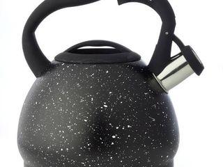 Diamond Home 3 liter Speckled Tea Kettle   Black   Diamond Home