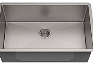 Finger Radius Undermount Single Bowl Kichem Sink l  22 5 8  W  18 5 8  D  9