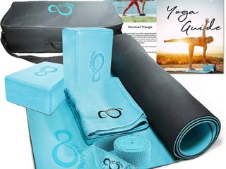 live Infinitely Travel Yoga Kit with soft carrying case
