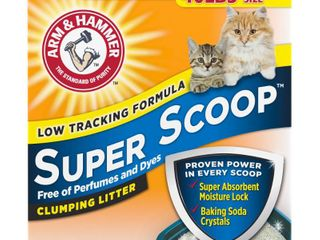Arm   Hammer Super Scoop Clumping litter  Unscented  40 Pound Retail   134 85