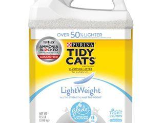 Purina Tidy Cats light Weight  low Dust  Clumping Cat litter  lightWeight Glade Clear Springs Multi Cat litter  8 5 lb  Jug Retail   56 71