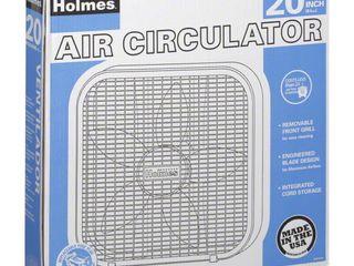 Holmes 20  Metal Box Fan  White  2 pack