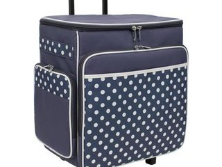 Everything Mary Rolling Scrapbook Tote  Black and White Polka Dot
