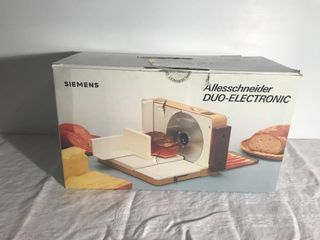 Siemens duo-electronic food slicer