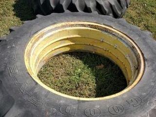 2 Good Year 18 4 38 Tractor Tire   Rim