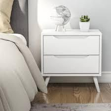 Carson Carrington Bodo Mid century Modern 2 drawer Nightstand   Retail 191 49