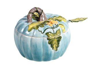 Certified International Harvest Gatherings Pumpkin Tureen with ladle