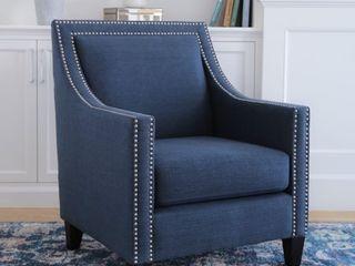Abbyson Adrienne Nailhead Accent Chair  Retail 260 99