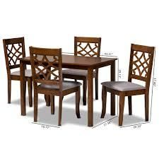 Celina Modern and Contemporary 4 Piece Dining CHairs  Retail 376 49