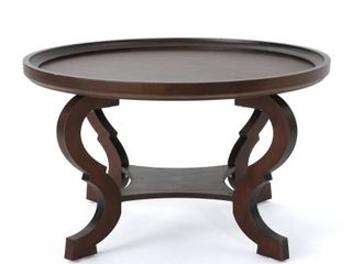 Althea Round Wood Coffee Table by Christopher Knight Home  Retail 156 49